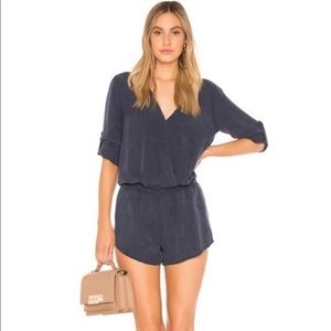 Anthropologie Cloth & Stone Grey Tencel Romper